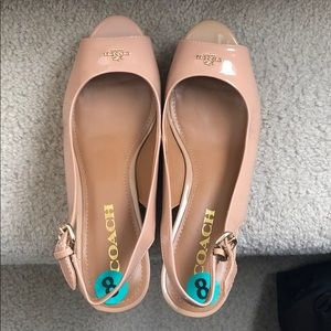 Coach wedge shoes size 8